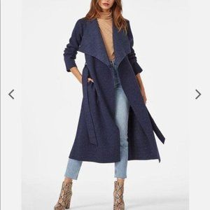 JustFab Knit Drape front Long COAT
